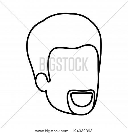 sketch silhouette of man faceless with van dyke beard vector illustration