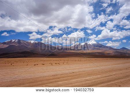 Altiplano mountains in sud Lipez reserva Eduardo Avaroa Bolivia poster