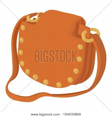 Woman handbag icon. Cartoon illustration of woman handbag vector icon for web isolated on white background