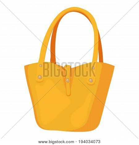 Women bag icon. Cartoon illustration of women bag vector icon for web isolated on white background