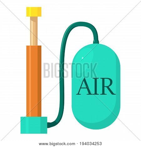 Air pump icon. Cartoon illustration of air pump vector icon for web isolated on white background
