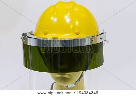 mannequins with safety helmet and glass visor;Personal Protection Equipment PPE
