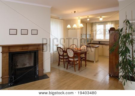A classic dining room