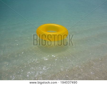 Inflatable Ring on the beautiful waters of the Maldives