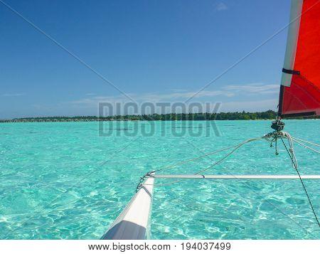 Hobie Cat Sailing in the beautiful Maldives Islands