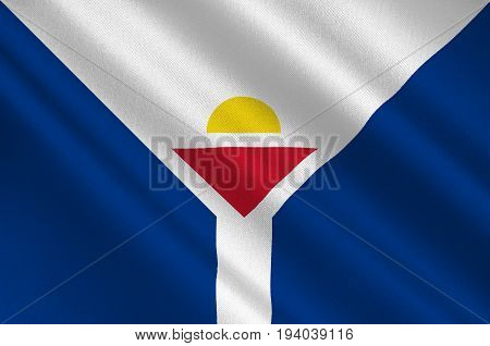 Flag of Saint Martin officially the Collectivity of Saint Martin is an overseas collectivity of France in the Caribbean. 3d illustration