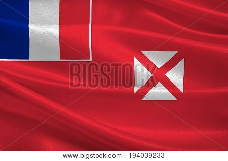 Flag of Wallis and Futuna officially the Territory of the Wallis and Futuna Islands is a French island. 3d illustration