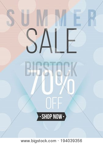Summer sale minimal poster and cover design in colorful modern style with abstract elements. Template layout vector for flyer, banner, placard, place your text