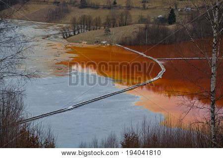 Water Lake Pollution By Mining Residuals,geamana ,romania