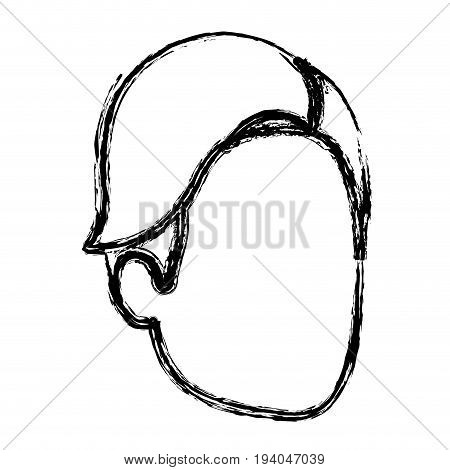 monochrome blurred silhouette of faceles man with haircut side fringe vector illustration vector illustration