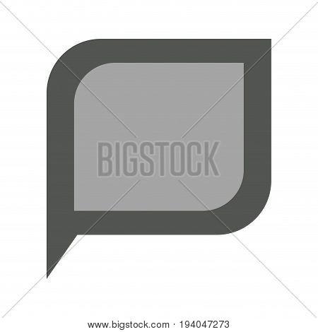 grayscale silhouette of bubble speech vector illustration