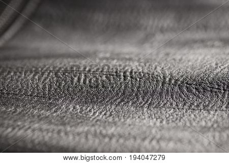 Black leather texture or leather background for design with copy space for text or image. Abstract texture pattern can use for art work on website.