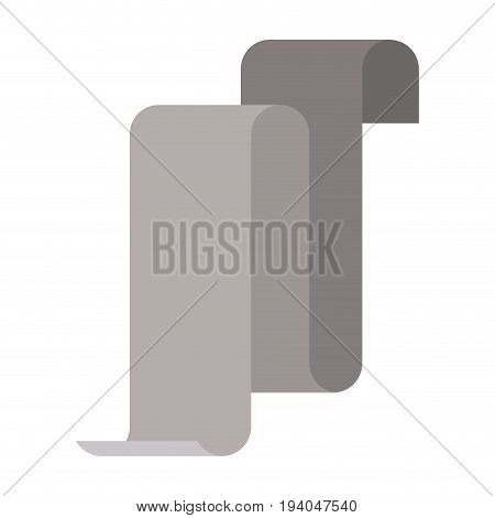 gray silhouette of continuously long sheet vector illustration
