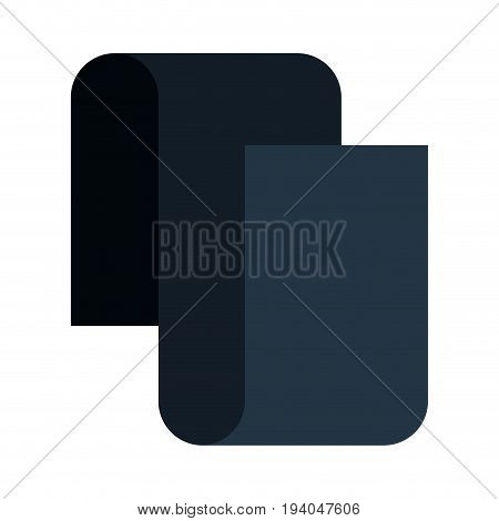 black silhouette of continuously long sheet vector illustration