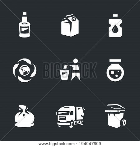 Glass, paper, plastic, recycling, recycling, chemicals, bag, garbage ruck, can.