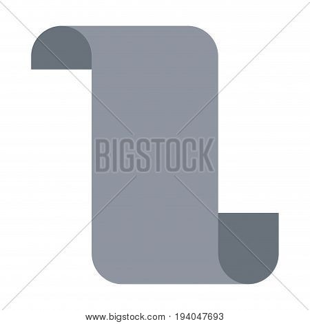 gray silhouette of continuously paper sheet vector illustration