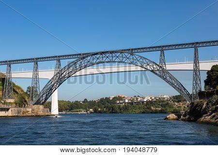 Ponte Do Infante Bridge Over Douro River In Porto, Portugal