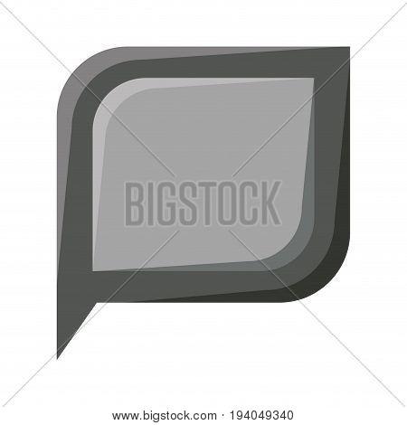 realistic grayscale silhouette of bubble speech vector illustration