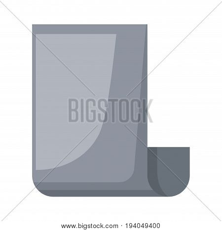 realistic grayscale silhouette of continuously sheet vector illustration