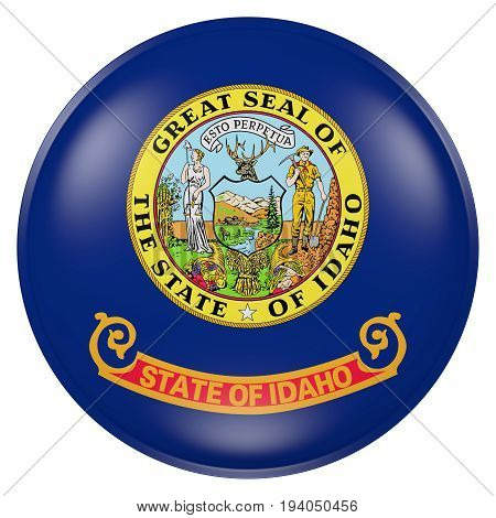 Idaho State Flag Button