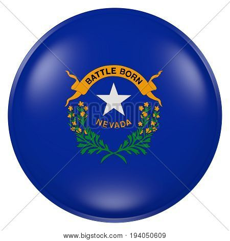 Nevada State Flag Button