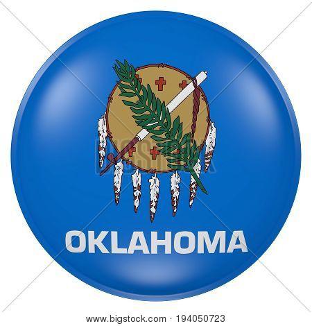 Oklahoma State Flag Button
