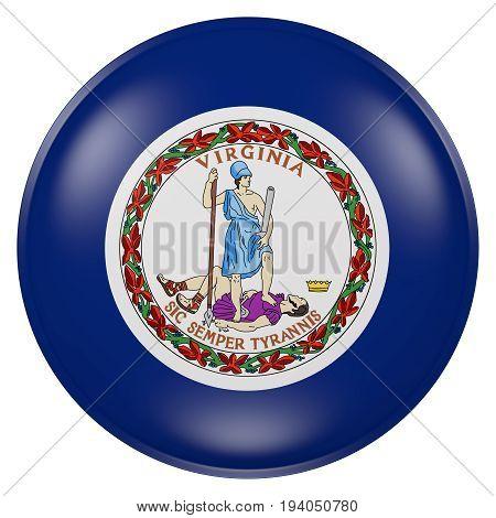 Virginia State Flag Button