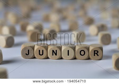 Junior - Cube With Letters, Sign With Wooden Cubes