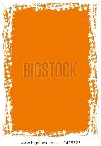 Grunge star background (frame, border)