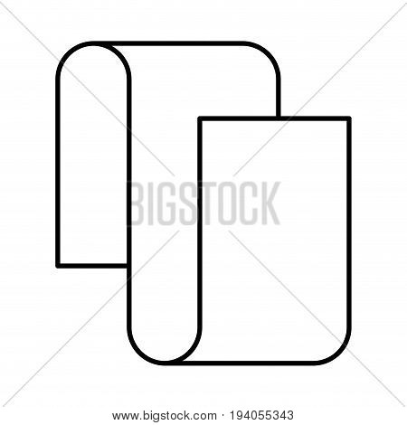 monochrome silhouette of continuously long sheet in closeup vector illustration
