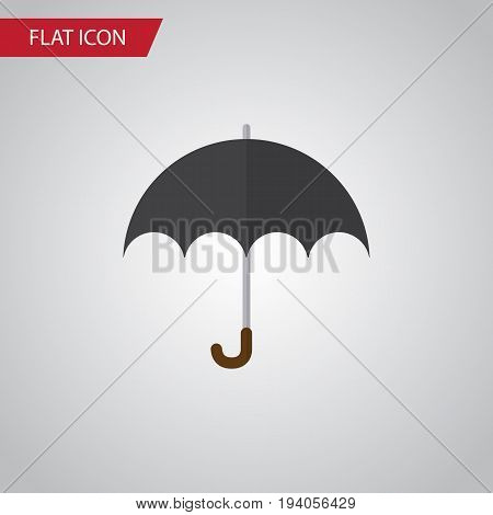 Isolated Umbrella Flat Icon. Parasol Vector Element Can Be Used For Parasol, Umbrella, Beach Design Concept.
