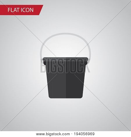 Isolated Bucket Flat Icon. Pail Vector Element Can Be Used For Bucket, Pail, Container Design Concept.