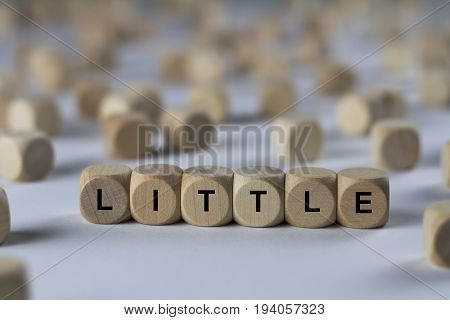 Little - Cube With Letters, Sign With Wooden Cubes