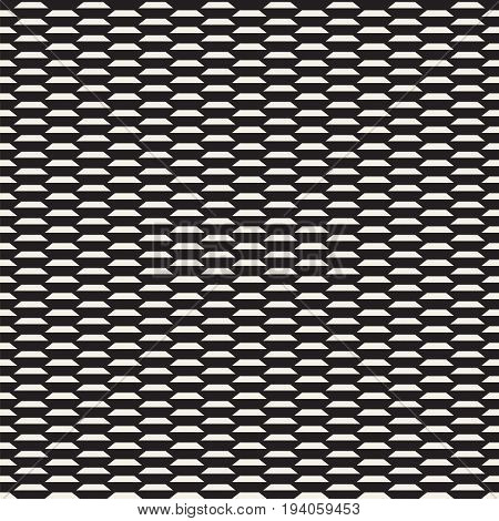 Geometric ornament. Seamless background. Abstract texture for wallpapers. Repeating geometric elements. Black and white pattern.