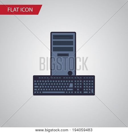 Isolated Keyboard Flat Icon. Processor Vector Element Can Be Used For Processor, Keyboard, Computer Design Concept.