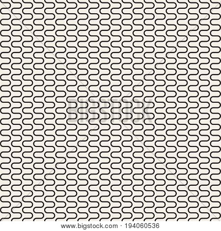 Vertical Seamless Pattern. Geometric Monochrome Texture. Abstract Background. Vector Illustration