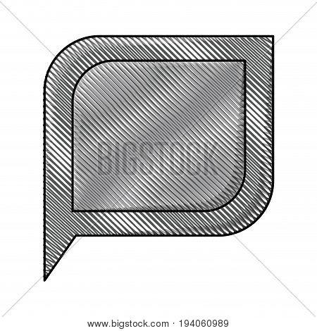 colored pencil silhouette of bubble speech vector illustration