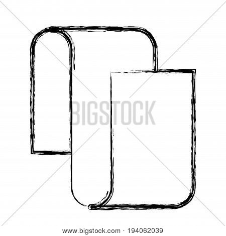 monochrome blurred silhouette of continuously long sheet in closeup vector illustration