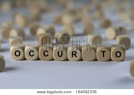 Occur To - Cube With Letters, Sign With Wooden Cubes