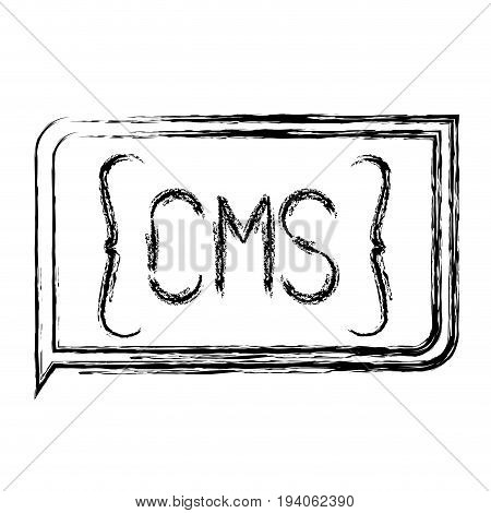 monochrome blurred silhouette of rectangle text cms vector illustration