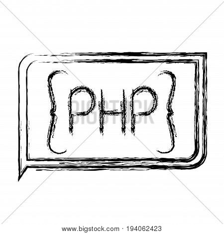 monochrome blurred silhouette of rectangle text php vector illustration