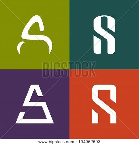 Letter S A logo icon design template elements
