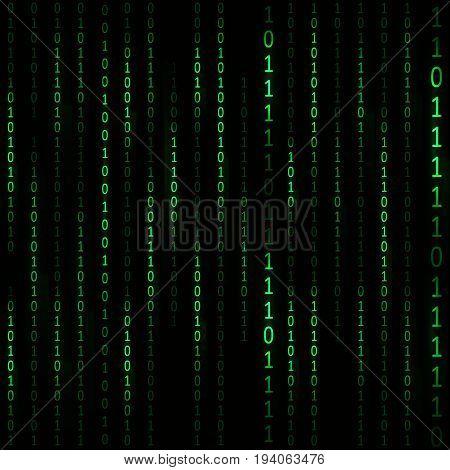 Matrix Hacker Card Background Web Design Style for Your Business. Vector illustration