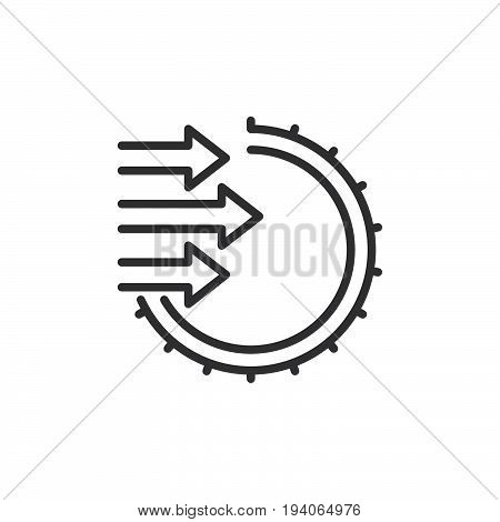 Import line icon outline vector sign linear style pictogram isolated on white. Symbol logo illustration