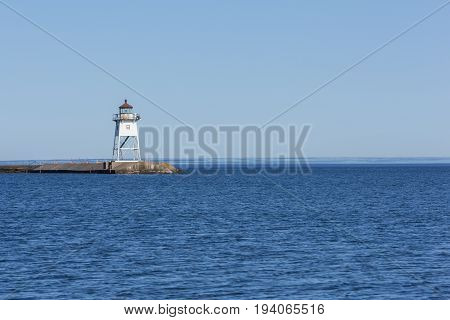 Grand Marais Lighthouse - A breakwater lighthouse on Lake Superior.