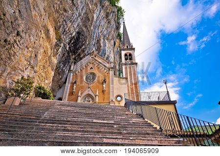 Madonna Della Corona Church On The Rock