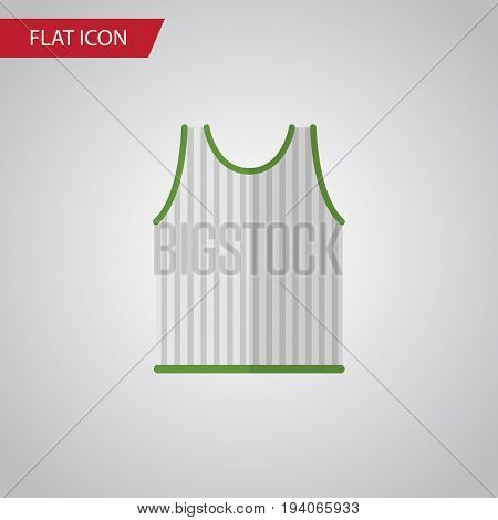 Isolated Sleeveless Tank Flat Icon. Singlet Vector Element Can Be Used For Singlet, Tank, Sleeveless Design Concept.
