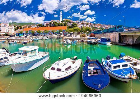Town Of Novi Vinodolski Waterfront Panoramic View