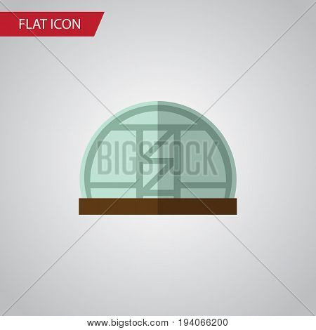 Isolated Greenhouse Flat Icon. Hothouse Vector Element Can Be Used For Hothouse, Greenhouse, Farm Design Concept.