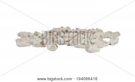 Extracted caries tooth on isolated a white background 3d render